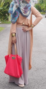 Juppe Culottes- Chic Look The Art of Wearing Hijab The Art of Wearing Hijab Part 3: Casual Styles chic look