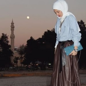 Pleated Circular Skirt + Chemise. Trendy Look The Art of Wearing Hijab The Art of Wearing Hijab Part 3: Casual Styles trendy look