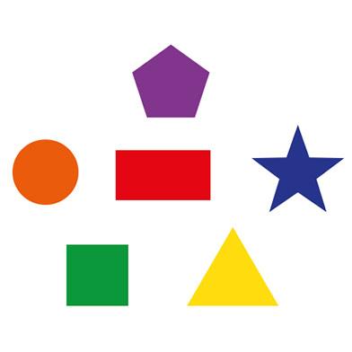 shapes circle square rectangle