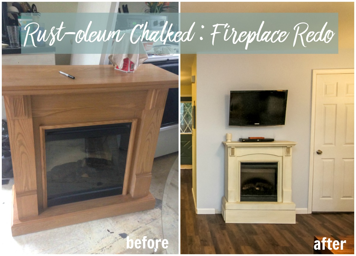Chalked  Fireplace Redo  Product Review  amy allender
