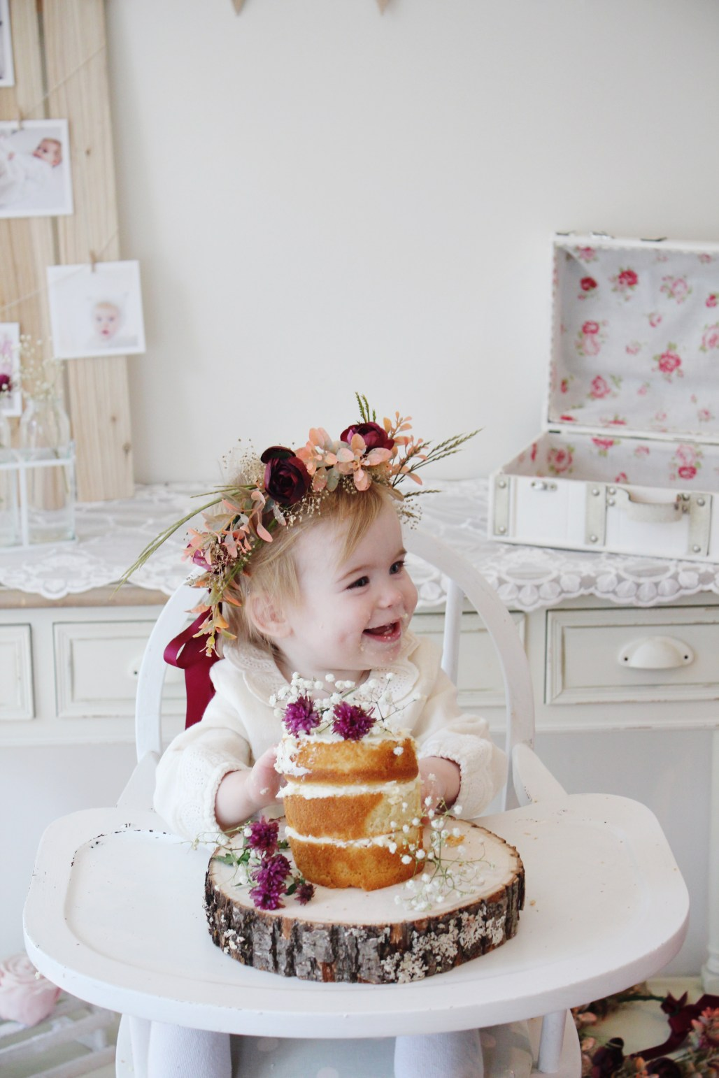 1st-birthday-floral-naked-cake