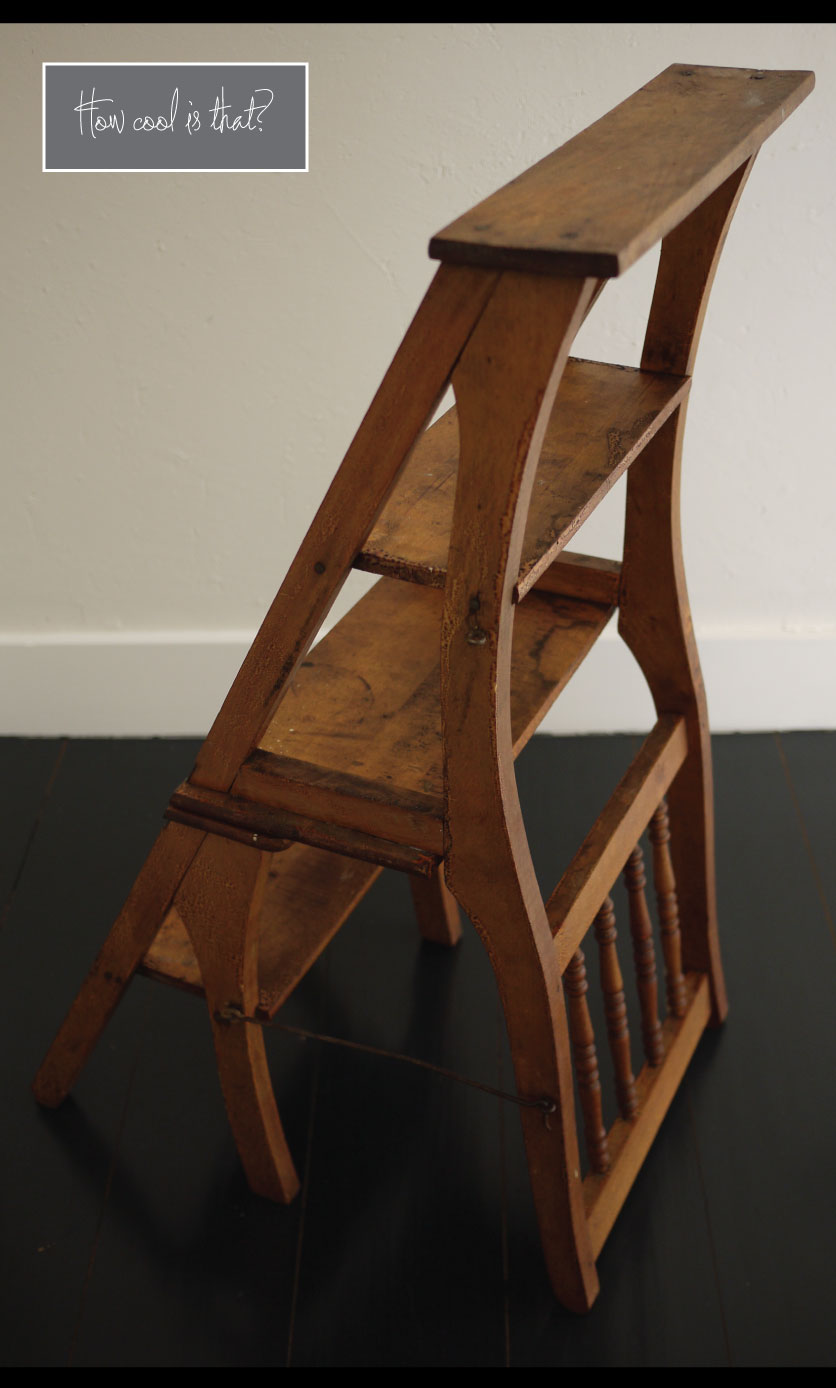 chair step stool hanging price antique convertible