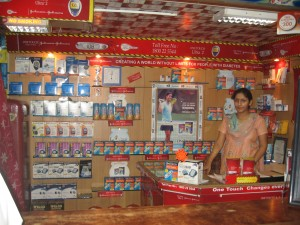 This is inside a chemist's shop specializing in diabetes care in Lucknow, Uttar Pradesh, India.
