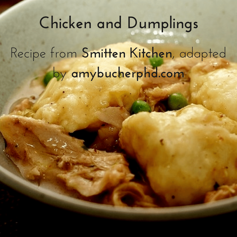 Recipe: Chicken and Dumplings from Smitten Kitchen | Amy Bucher, Ph.D.