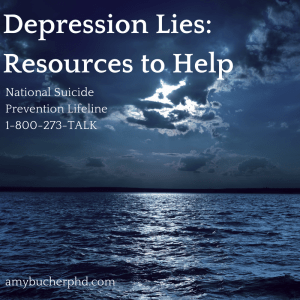Depression Lies- Resources to Help