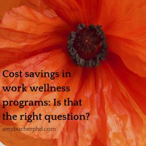 Cost savings in work wellness programs-