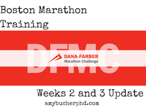 Boston Marathon Training