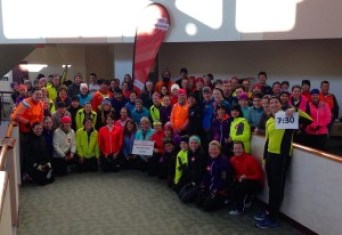The long run crew. I'm in the front holding the sign.