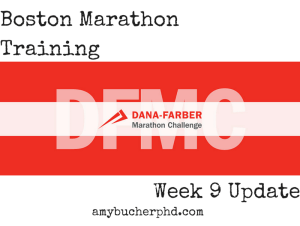 Boston Marathon Training (1)