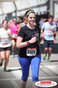 Me finishing the Harpoon 5-Miler in 2014.