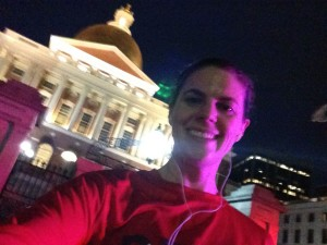 Repping DFMC outside the Massachusetts State House on my evening run.