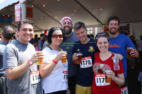 Team Running for the Beer