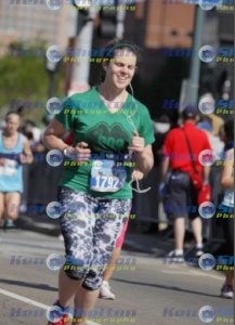 I'm including this awful picture for those of you who were fooled into thinking I'm photogenic when I run. As hard as the race was, I don't think I ever felt as bad as I look here.
