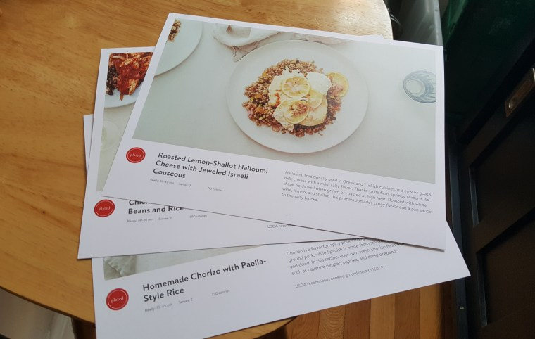 Three recipes from a recent delivery.