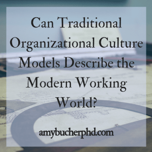 Can Traditional Organizational Culture Models Describe the Modern Working World-