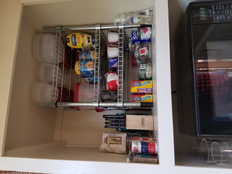 All of the tiny homes come with a fully stocked pantry and electric cooking appliances.