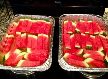 Watermelon in pan