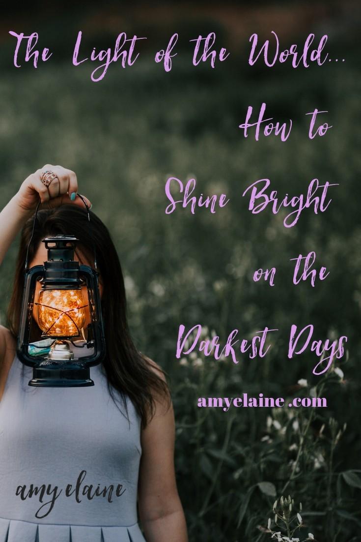 Shine Bright Darkest Days Light of the World Devotional