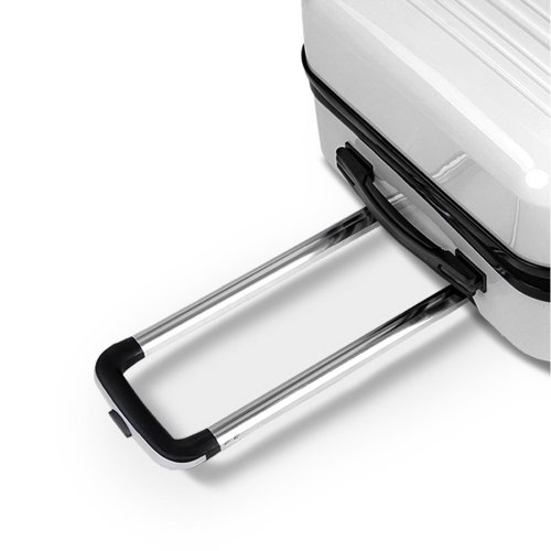 Hard Shell Travel Luggage with TSA Lock Black and White