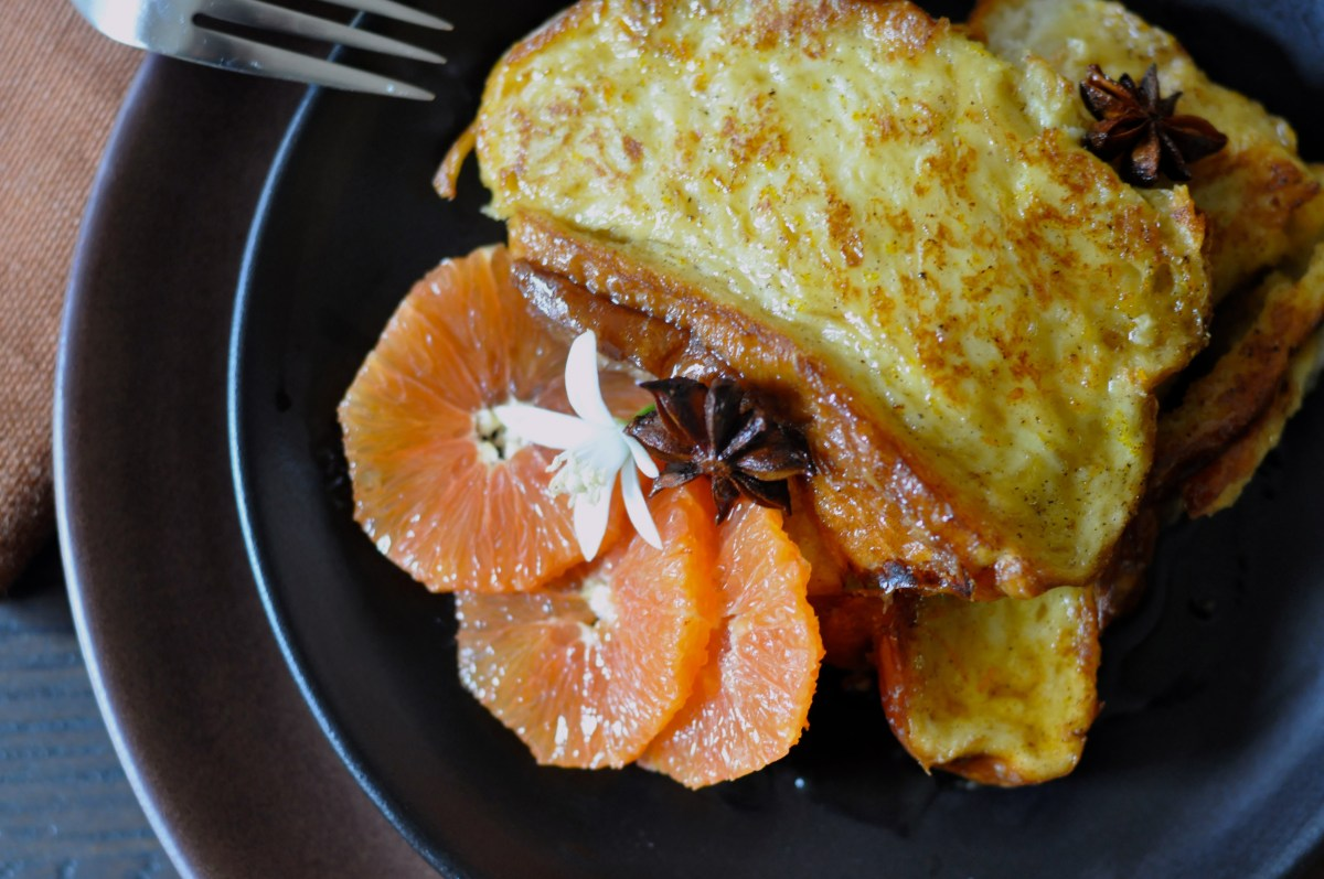 9f9a3d7169d Baked French Toast With Orange Blossom Maple Syrup