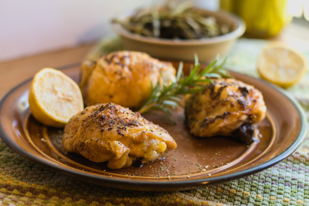 Simple Suppers: Roasted Chicken Thighs