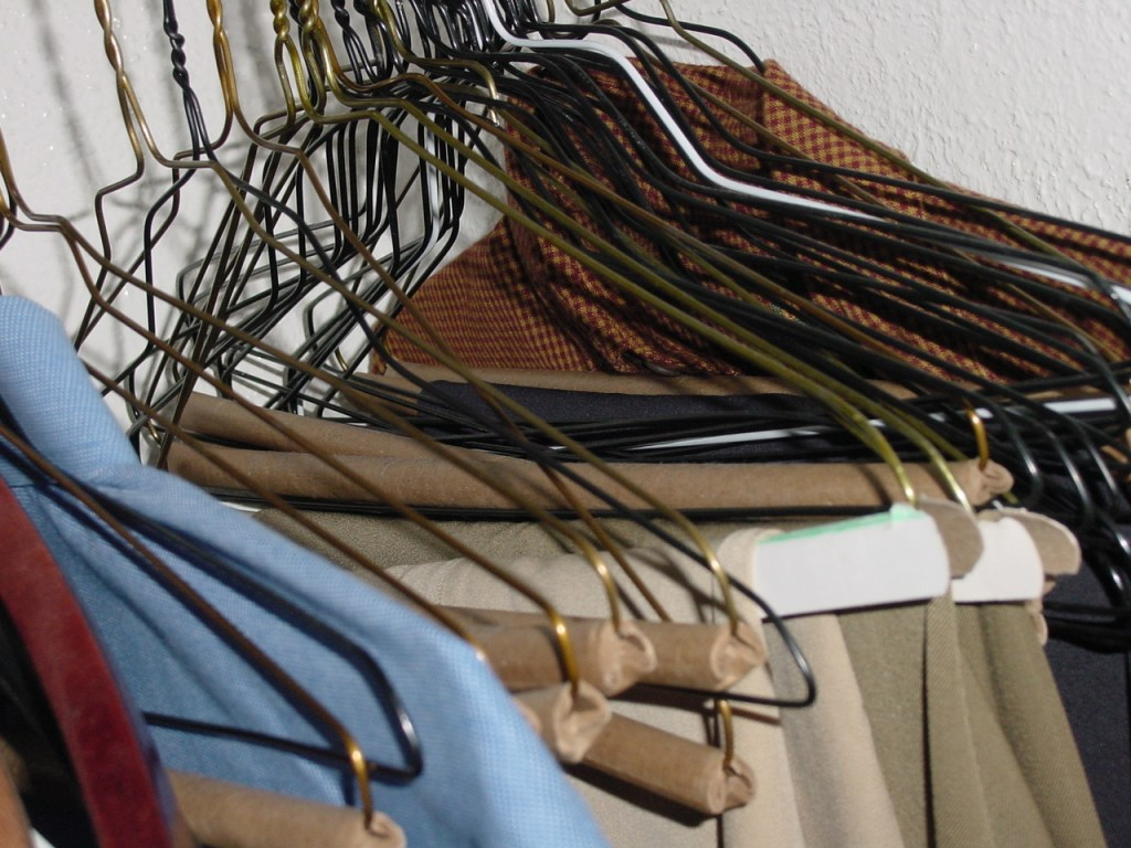 Decluttering challenge closet.