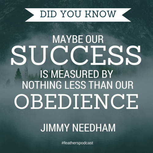 Maybe success is measured bestBy nothing
