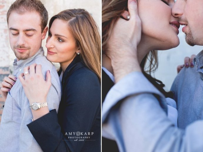 dallas wedding photographer amy karp with andrew and andea in farmers marekt and arts distric