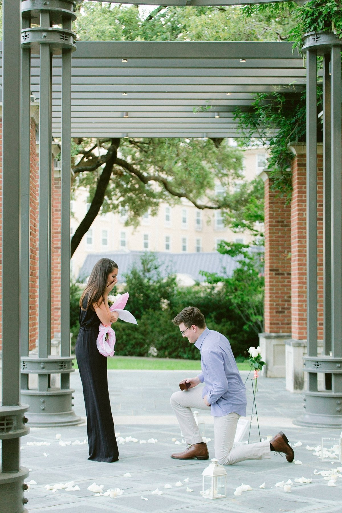 dallas proposal photographer with madison and alex