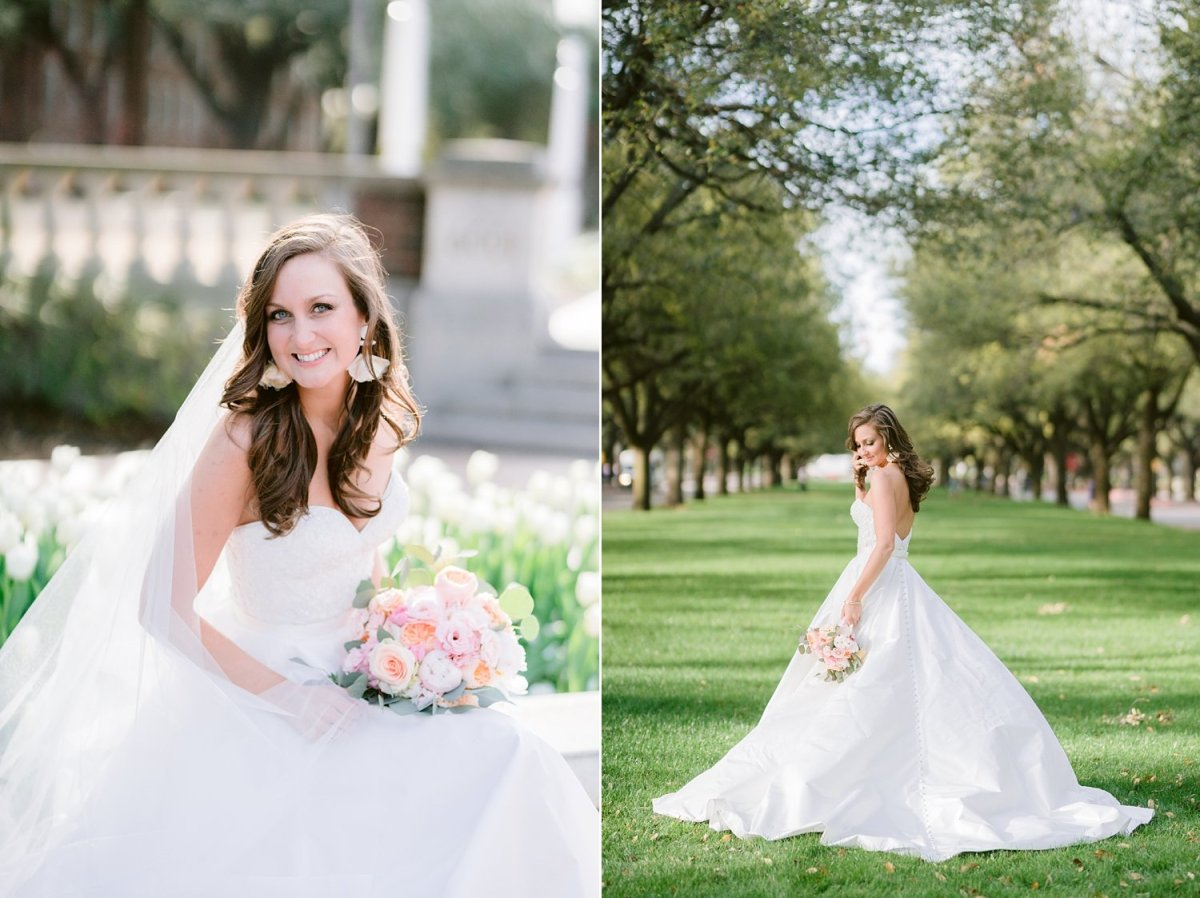 SMU Perkins Bridal Portrait