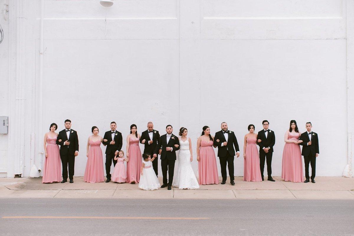 hickory street annex dallas wedding photographer wedding party portraits