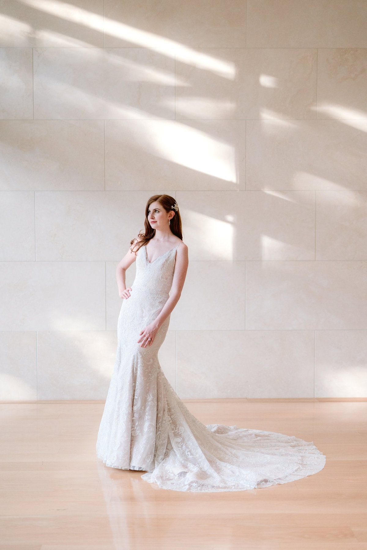 dallas nasher sculpture gardens wedding indoor portraits