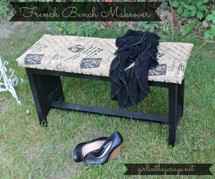 French Bench Makeover by Girl in the Garage for One Artsy Mama.
