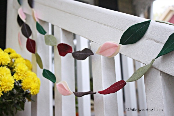 leaf garland 082ps