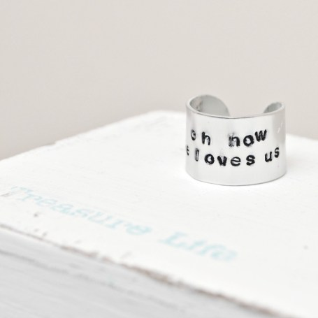 Handstamped Ring