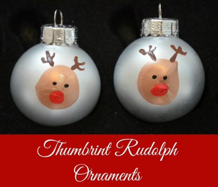 Thumbprint Rudolph Ornaments