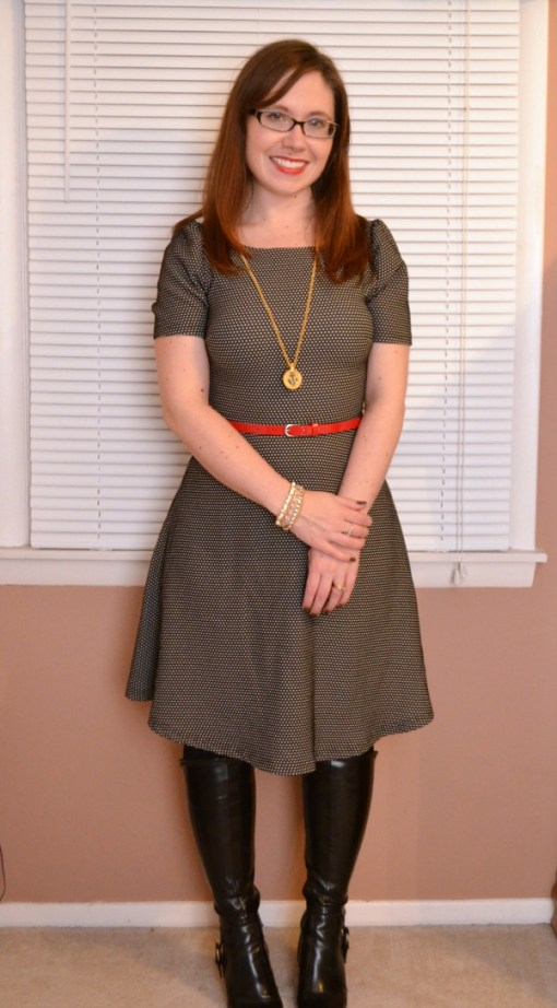 Cattie Belted Dot Print Dress