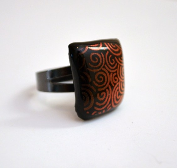 Dichroic Fused Glass Ring