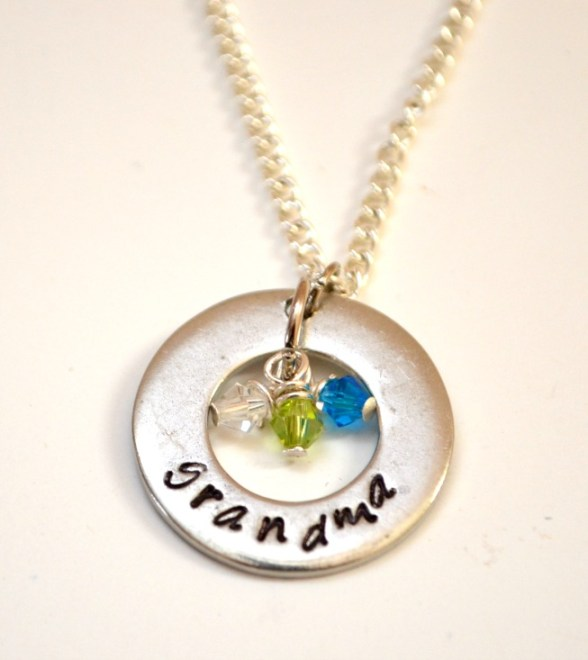 Handstamped Family Necklace