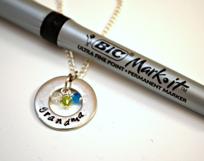 Stamped Grandma necklace