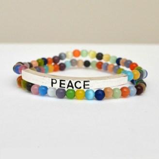 Peace Beaded Bracelets