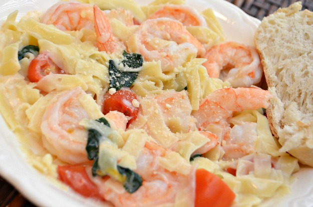 Creamy Shrimp Alfredo with Knorr Sides