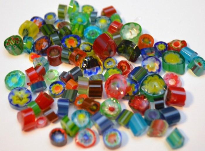 Millefiori Fused Glass Pendant