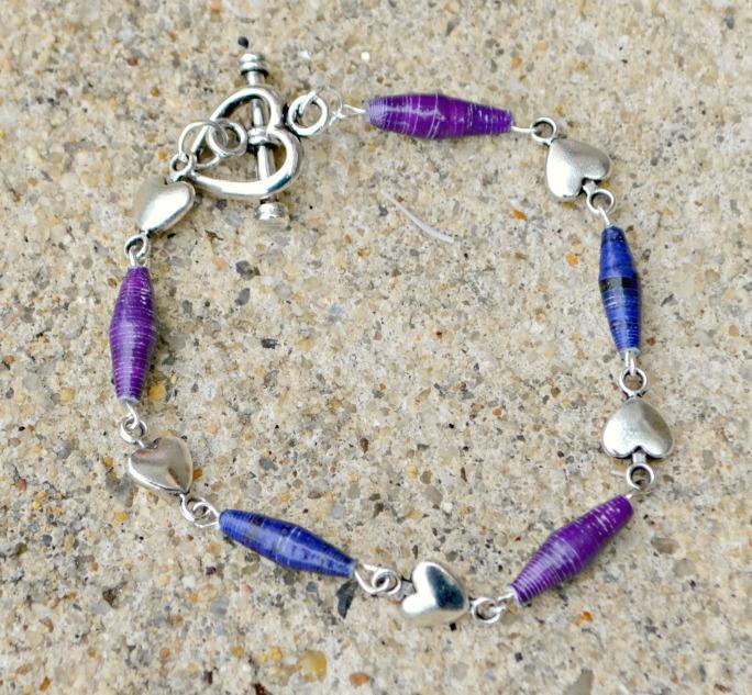 Heart and Bead Bracelet