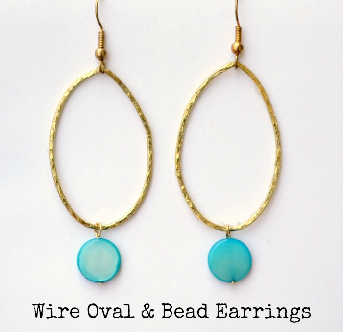 Wire and Bead Earrings