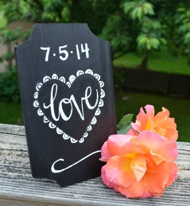 "Chalkboard ""Love"" Sign"
