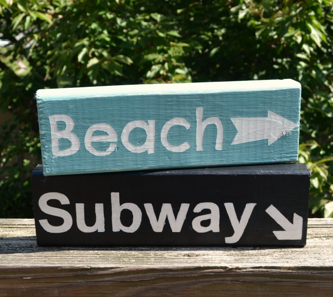 Beach and Subway Signs
