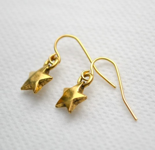 Gold Little Star Earrings