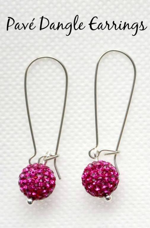 Rhinestone Pavé Dangle Earrings