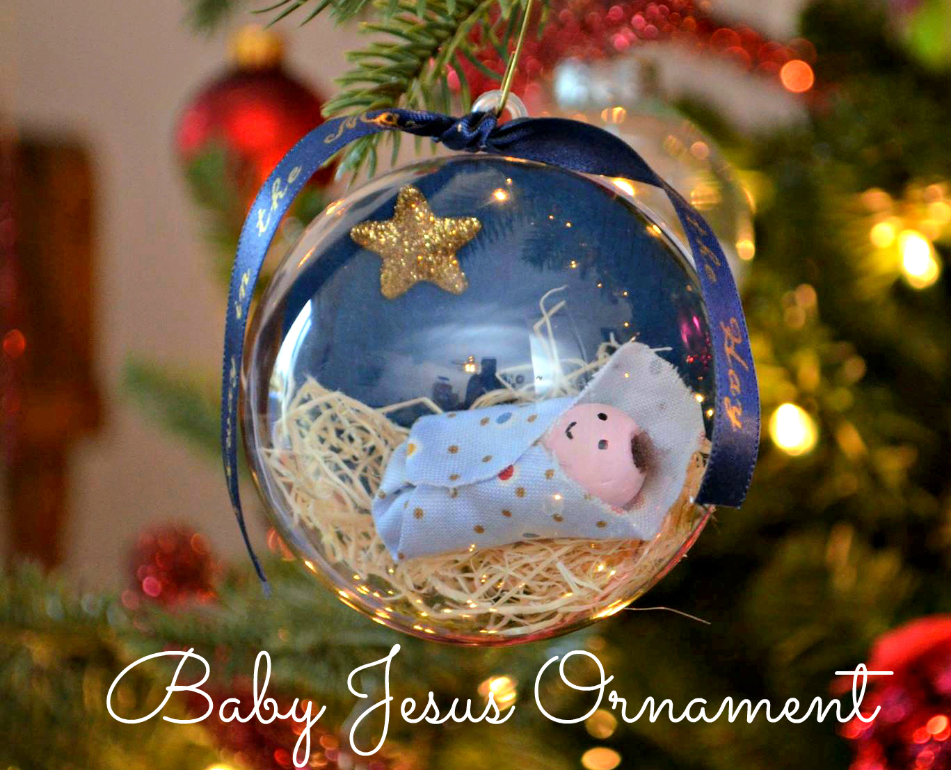 Nativity Snowman Ornament Manger Nativity Snowman Ornament Mary Ornament Baby Jesus Ornament  First Christmas Ornament Custom  Personalized
